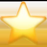 White Medium Star ios emoji