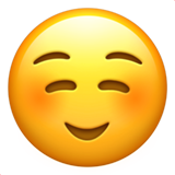 White Smiling Face ios/apple emoji