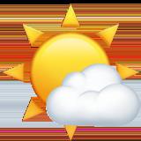 White Sun With Small Cloud ios emoji
