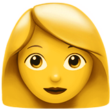 Woman ios/apple emoji