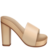 Womans Sandal ios emoji