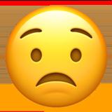Worried Face ios emoji