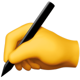 Writing Hand ios emoji