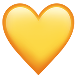 Yellow Heart ios/apple emoji