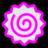 Fish Cake With Swirl Design docomo emoji