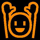 Person Raising Both Hands In Celebration docomo emoji