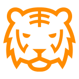 Tiger Face docomo emoji