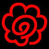 White Flower docomo emoji