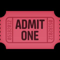 Admission Tickets facebook emoji