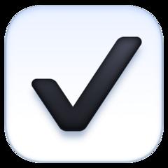 Ballot Box With Check facebook emoji