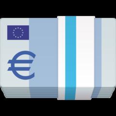 Banknote With Euro Sign facebook emoji