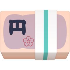 Banknote With Yen Sign facebook emoji