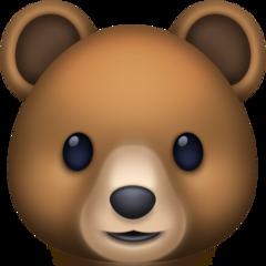 Bear Face facebook emoji