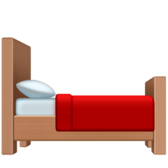 Bed facebook emoji