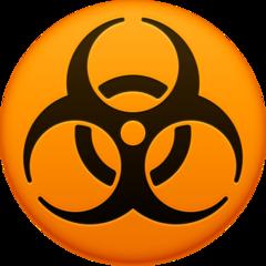 Biohazard Sign facebook emoji