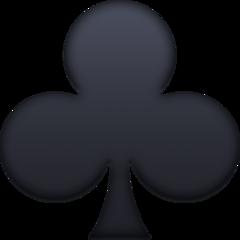 Black Club Suit facebook emoji