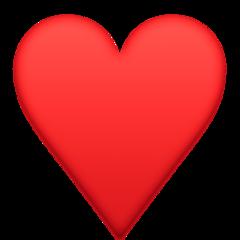 Black Heart Suit facebook emoji