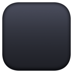 Black Large Square facebook emoji