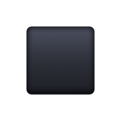 Black Medium Small Square facebook emoji