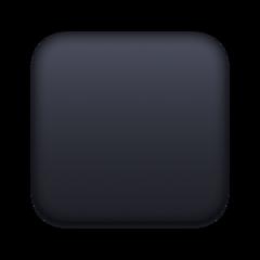 Black Medium Square facebook emoji