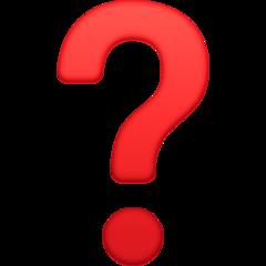 Black Question Mark Ornament facebook emoji