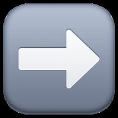 Black Rightwards Arrow facebook emoji