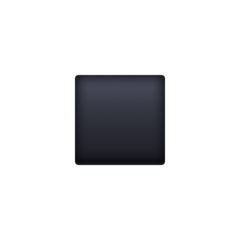 Black Small Square facebook emoji