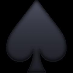 Black Spade Suit facebook emoji