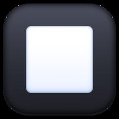 Black Square Button facebook emoji
