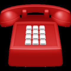 Black Telephone facebook emoji