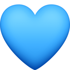 Blue Heart facebook emoji