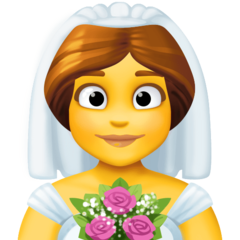 Bride With Veil facebook emoji
