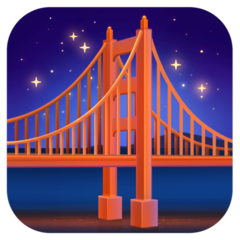 Bridge At Night facebook emoji