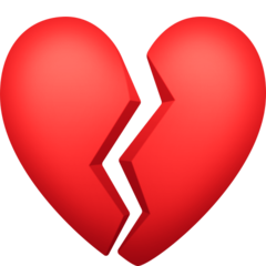 Broken Heart facebook emoji