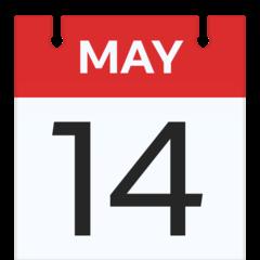 Calendar facebook emoji