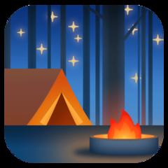 Camping facebook emoji