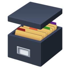 Card File Box facebook emoji