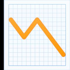Chart With Downwards Trend facebook emoji