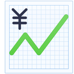 Chart With Upwards Trend And Yen Sign facebook emoji