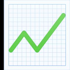 Chart With Upwards Trend facebook emoji