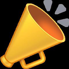 Cheering Megaphone facebook emoji