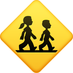 Children Crossing facebook emoji