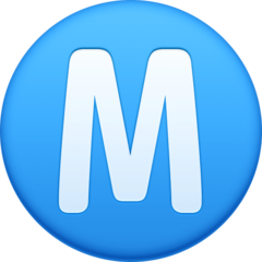 Circled Latin Capital Letter M facebook emoji