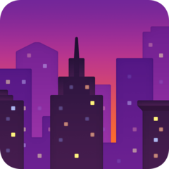 Cityscape At Dusk facebook emoji