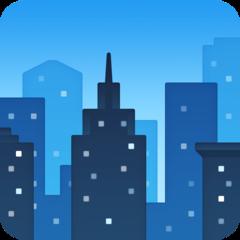 Cityscape facebook emoji