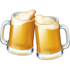 Clinking Beer Mugs facebook emoji