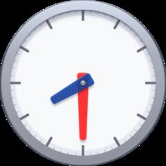 Clock Face Eight-thirty facebook emoji