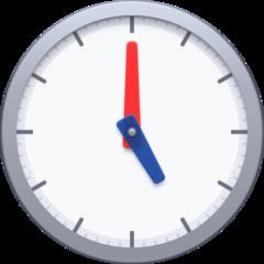 Clock Face Five Oclock facebook emoji