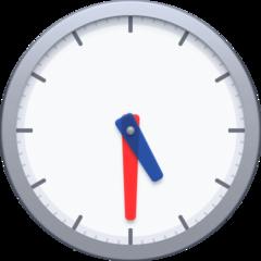 Clock Face Five-thirty facebook emoji