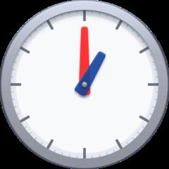 Clock Face One Oclock facebook emoji